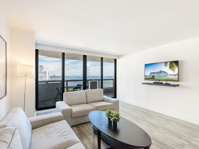 Photo for Stunningly Upgraded Unit With Panoramic Biscayne  Views At The Grand Condominium