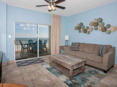 Photo for Remodeled Gulf-front 1/1, Slps 6, Blcny, WiFi, W/D, Pool/Hot Tub/BBQ, Free Activities -Tidewater 607