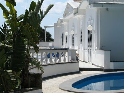 Photo for Charming villa overlooking the sea with private pool  and garden.