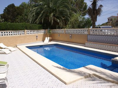 Photo for WONDERFUL 3-LEVEL VILLA FOR 10 P. PRIVATE POOL, WIFI, SEAVIEW, SUNBEDS,  GARDEN