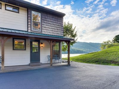 Photo for Waterfront home w/ dock and slip plus well-appointed deck - close to skiing