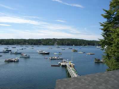 Photo for Walk to Town! Beautiful Waterfront Cottage w/ Panoramic Views from Deck and Dock