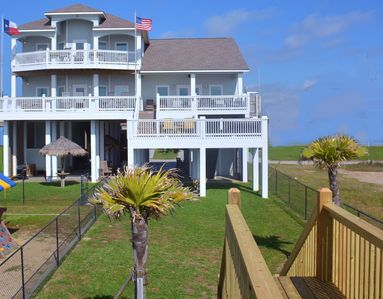 Photo for Beachfront Luxury Manor~Just Breathe~Sleeps 17-3 Decks w/Private Beach Bridge