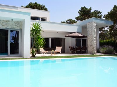 Photo for This luxury villa for 8 guests with swimming pool is located in a golf resort
