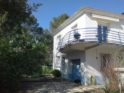Photo for House between Cevennes and the Mediterranean garden and swimming pool in Roman city