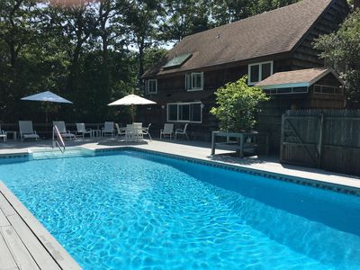 Photo for Southampton getaway with heated pool, private tennis, two blocks to beach