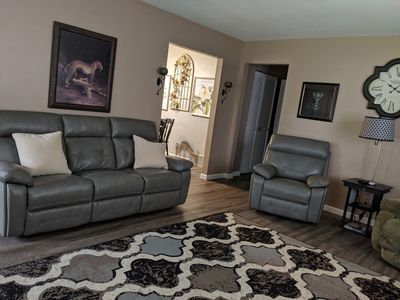 living room with new furniture