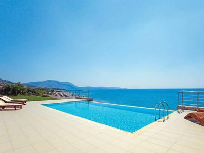 Photo for 3 bedroom villa, on beachfront, terrace, pergola, BBQ & private pool