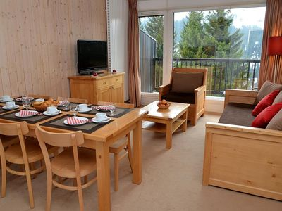 Photo for 100m from shops, 2nd floor, view ski slopes, balcony, tv, ski locker, 60m², Flaine
