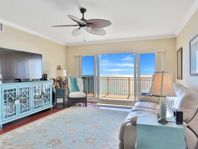 Photo for Gulf-front condo w/ step-free access, king-sized electric beds & pool access