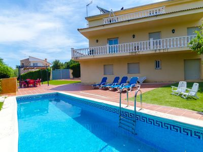 Photo for Club Villamar - A lovely Spanish 10-bed villa with private pool within walking distance of the se...