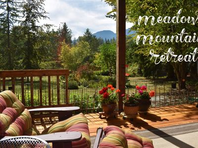 Photo for New Listing!! Tranquil Northwest Meadow Mountain Retreat w/Private Hot Tub