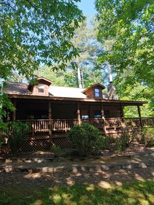 Photo for LOG CABIN IN THE WOODS! STAY 7 NTS FOR 750 OR 2 NTS FOR A WEEKEND GETAWAY!!