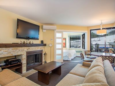 Photo for Open-Concept Suite with Fireplace + Kitchen | Ski-in/Ski-out Location!