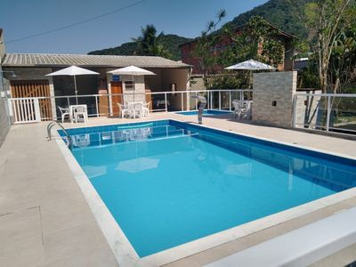 Photo for Kitchenette with swimming pool, playground, barbecue, near the beach Martim de Sá-