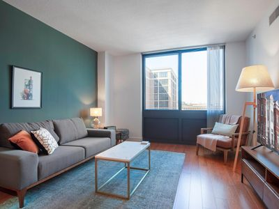 Photo for Comfy Mt. Vernon 1BR w/ Gym, Doorman, close to metro by Blueground