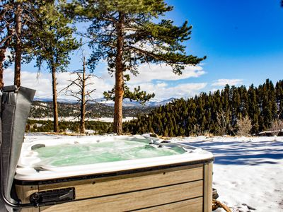 Photo for NEW LISTING! Dog-friendly, updated cabin with private hot tub and amazing views