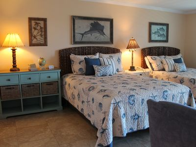 Photo for Beachside re-modeled condo, sleeps four. Stunning views from private balcony!