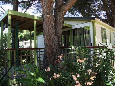 Photo for Camping Domaine de la Pinède Enchanted *** - Conditioning Bungalow Morea 3 Rooms 5 Persons