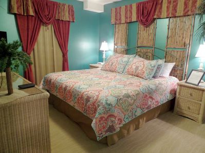 Sleep Late Enjoy a Roomy and Comfy King Bed in the Master Bedroom