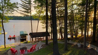 Photo for Beautiful Northwoods Home with Lakefront Views and Spectacular Shoreline
