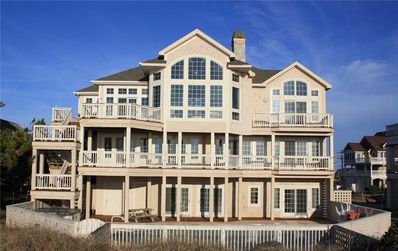 Photo for Spectacular Oceanfront View, Hatteras-Pool, Hot Tub, Game Rm, Boardwalk to Beach