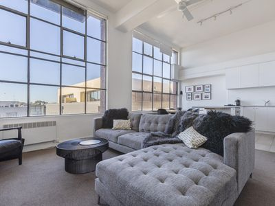 Photo for New York style light filled large 1 bedroom in iconic heritage building