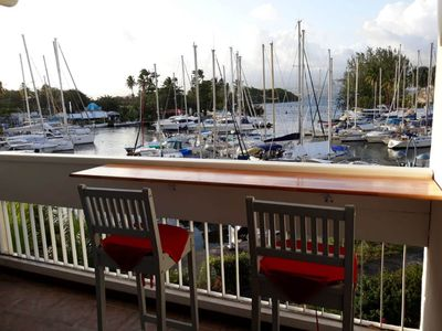 Photo for Ideal couple, studio in 200m of very beautiful beaches, seen sea and marina