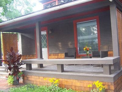 Front deck for entertaining or relaxing