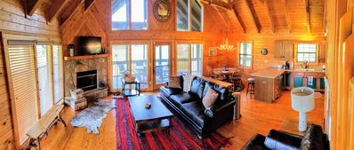 Photo for >Rustic Modern Spacious Cabin w/ Panoramic Mt. Views! Very convenient location.