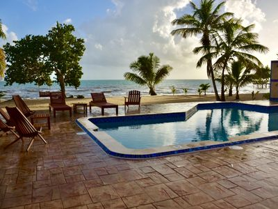 Photo for Windsong Belize - Private Beachfront Home with Pool