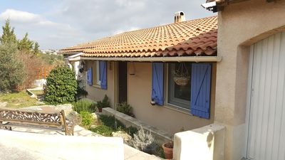 Photo for Villa 4 pers with swimming pool and garden on the heights of the village