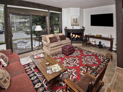 Photo for Comfy, 2-story townhome w/ shared pool, hot tub - on town of Vail`s Shuttle.