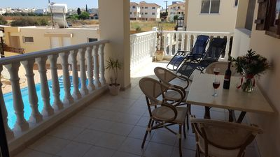 Photo for Spacious Two Bed Apartment Overlooking Pool Free WiFi
