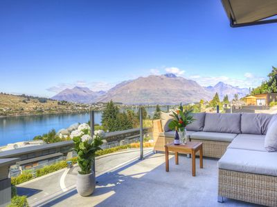 Photo for Expansive Mountain and Lake Views | Single Storey | BBQ and Balcony