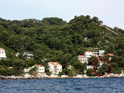 Photo for Studio flat with balcony and sea view Sobra, Mljet (AS-4888-a)