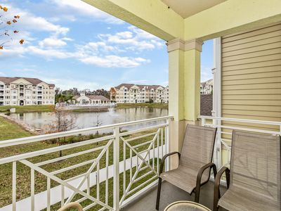 Photo for 3 Bedroom 2 Bathroom Condo with water view only 4.0 miles from Walt Disney World at the gated community Cane Island