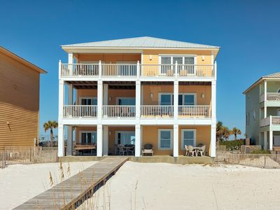 Photo for Gulf-Front Beach Home that SLEEPS 23! Private Beach Access, Modern Kitchen, Community Pools