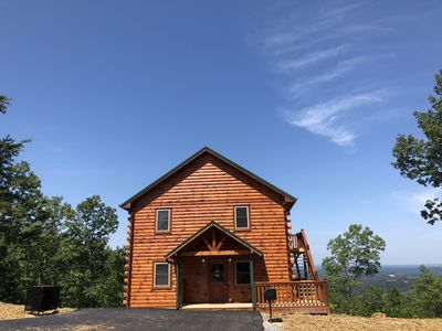 Photo for BRAND NEW CABIN comp. Sept. 2019! Epic Mountain Views close to Pigeon F.Parkway