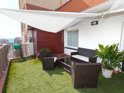 Photo for Penthouse with large terrace and sea and mountain views. Wi-Fi. Air conditioning