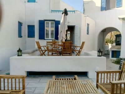 Photo for Mykonian 1BR Apartment 2 mins to Ornos Beach!