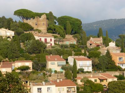 Photo for Garden apartment on the ground in the picturesque village of Bormes les Mimosas
