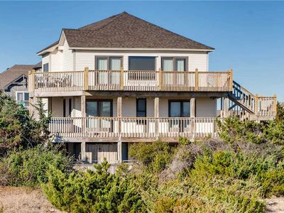 Photo for Recently Renovated Oceanfront in Salvo w/ Pool, Hot Tub, Game Room, Dog-Friendly