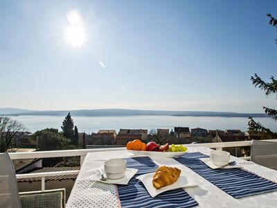 Photo for Three bedroom apartment with terrace and sea view Dramalj, Crikvenica (A-17643-b)