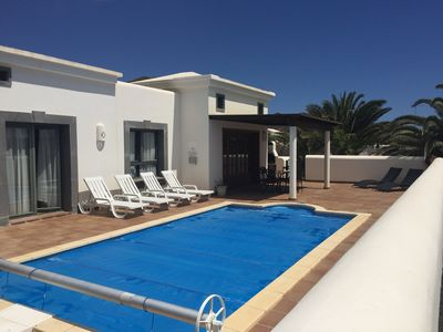 Private pool and sunbathing terrace