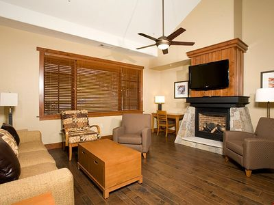 Photo for Luxe Ski-in Condo + Balcony | On-site Hot Tubs, Pools, & Theater Room!