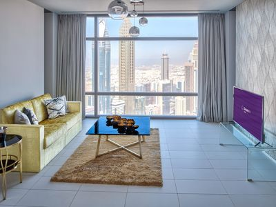 Photo for Spacious Al Sa'ada - 5304 apartment in Downtown with WiFi, air conditioning, balcony & lift.
