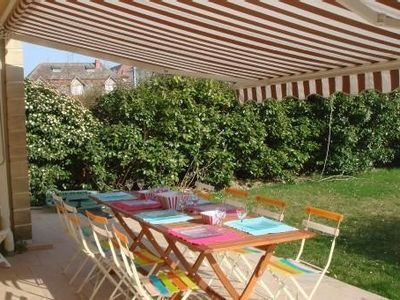 Photo for Very nice apartment 60m2 in Cabourg, sea front, sea view, large garden 250 m2, WIFI