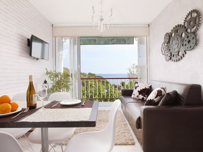 Photo for Beatiful beach front apartment Sant Pol for 4 (3)