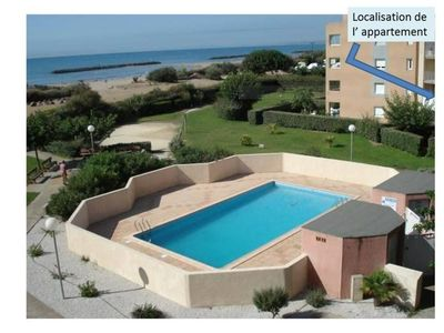 Photo for Apartment T3, T4 in residence private access beach Mediterranean Sea